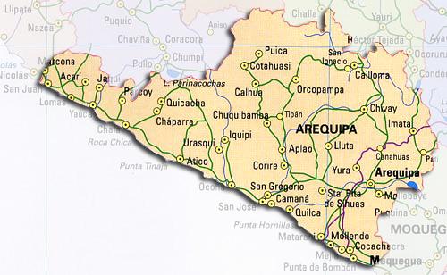 Mapa politico de arequipa - Imagui