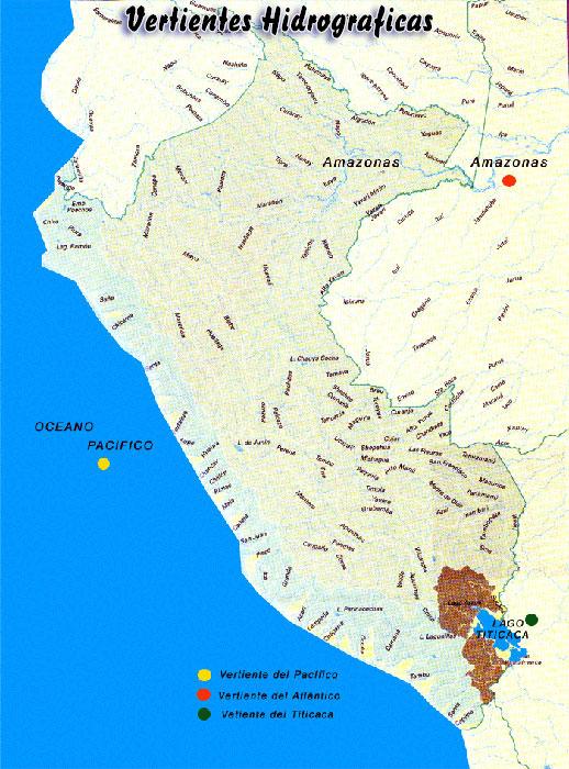 los principales rios de la vertiente atlantica tienen su origen en los