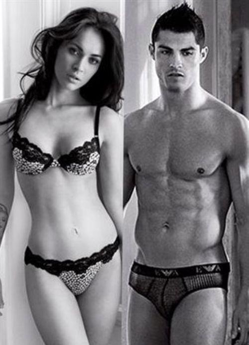 Megan Fox Y Cristiano Ronaldo Imagen De Armani