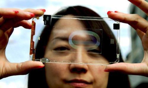 Smartphone transparent