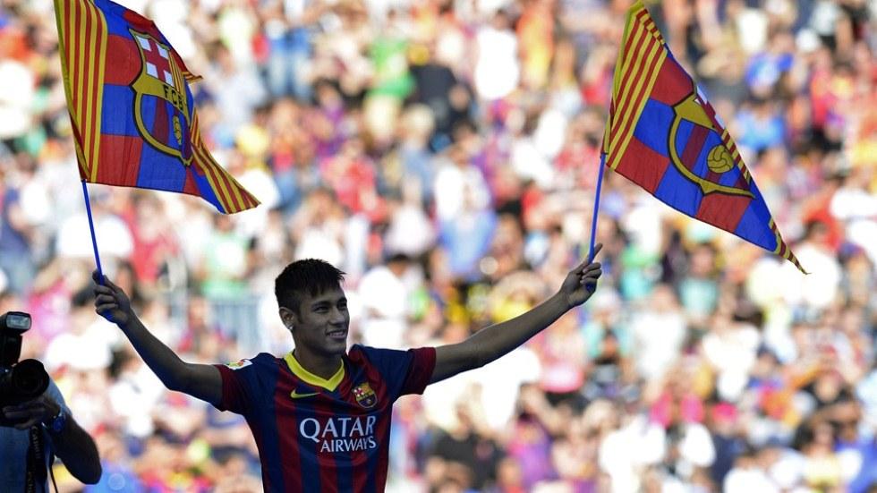 Presentacion de Neymar en el Barcelona 1
